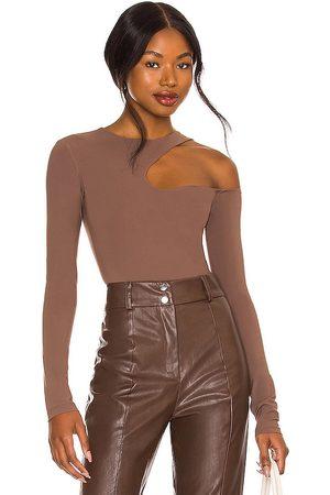 Alix NYC Wrenn Bodysuit in - Brown. Size L (also in M, S, XS).