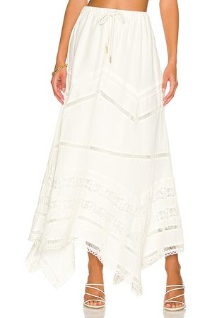Tularosa Tinsley Maxi Skirt in - Ivory. Size L (also in M, S, XL, XS, XXS).