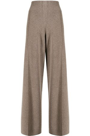 PRINGLE OF SCOTLAND High-waist wide-leg knitted trousers