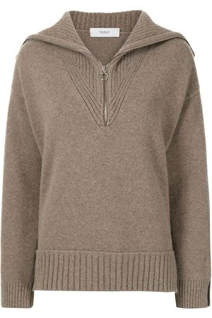 PRINGLE OF SCOTLAND Mulher Camisolas - Half-zip wool-cashmere jumper