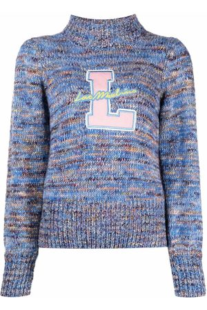 Love Moschino Monogram-embroidered roll-neck jumper