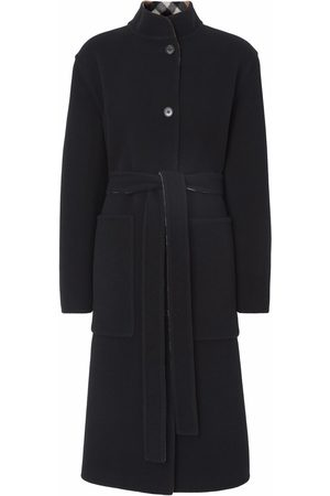 Burberry Mulher Casacos - Reversible single-breasted coat