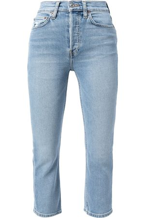 RE/DONE Mulher Skinny - High-rise skinny cropped jeans