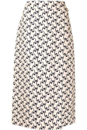 Tory Burch Mulher Saias Estampadas - Patterned maxi skirt
