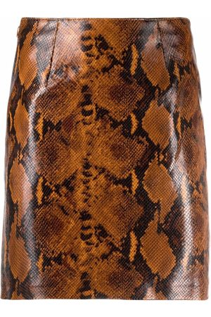 Pinko Snakeskin-print mini skirt