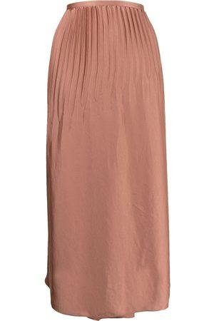 Vince Mulher Saias Compridas - High-waisted pleated maxi skirt