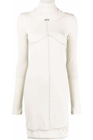 OFF-WHITE Logo-print jersey dress