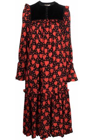 Saint Laurent Heart-print maxi dress