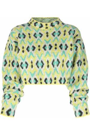 Emilio Pucci Mulher Camisolas - Diamond-jacquard knitted jumper