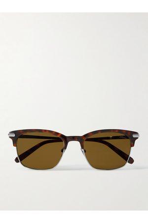 BRIONI D-Frame Acetate and Gunmetal-Tone Sunglasses