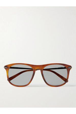 BRIONI Homem Óculos de Sol - D-Frame Acetate and Gunmetal-Tone Sunglasses