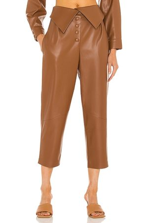 SELMACILEK Vegan Leather High Rise Pant in - . Size L (also in S, XS, M).