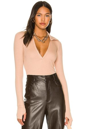 Alix NYC Mulher Bodies interiores - Monterey Bodysuit in - Nude. Size L (also in XS, S, M).
