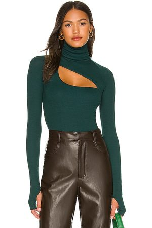 Alix NYC Carder Bodysuit in - Teal. Size L (also in XS, S, M).