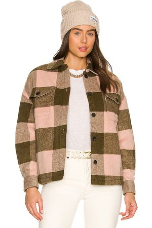 AllSaints Luella Check Jacket in - Olive. Size 0 (also in 00, 2, 4, 6, 8, 10).