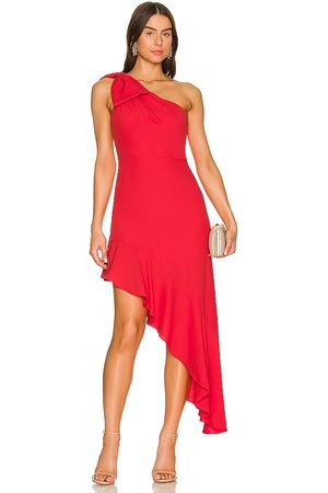 BCBG Max Azria Asymmetrical Dress in - Red. Size 0 (also in 2, 4, 6, 8, 10, 12).