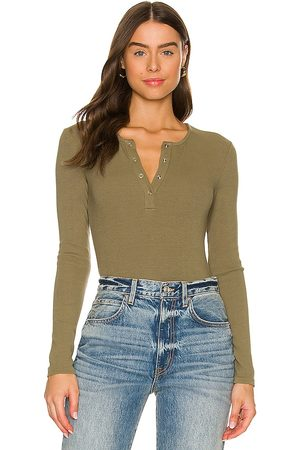 Lovers and Friends Lina Bodysuit in - Olive. Size L (also in XXS, XS, S, M).