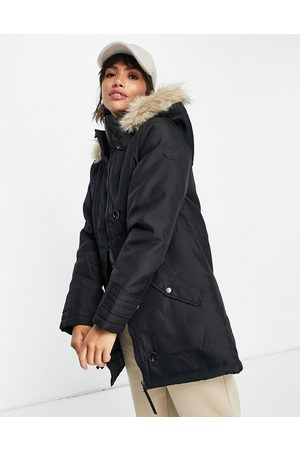 VERO MODA Mulher Parkas - Parka with faux fur lined hood in black