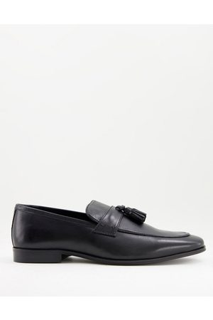 Dune Homem Oxford & Moccassins - Sea loafers in black leather