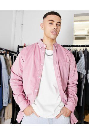JACK & JONES Originals oversize cord shirt in pink