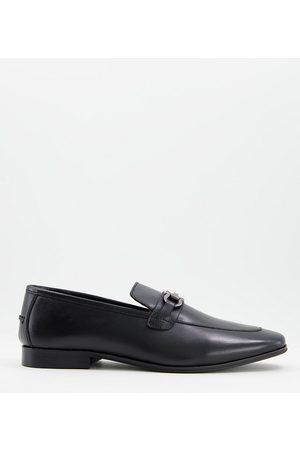 Dune Homem Oxford & Moccassins - Preston wide fit loafers in black leather