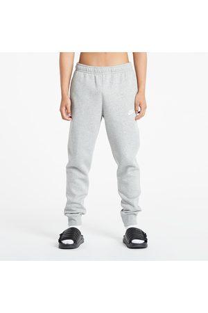 Nike Homem Joggers - Sportswear Club Joggers BB DK Grey Heather/ Matte Silver/ White