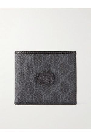 Gucci Homem Bolsas & Carteiras - Leather-Trimmed Monogrammed Supreme Coated-Canvas Billfold Wallet