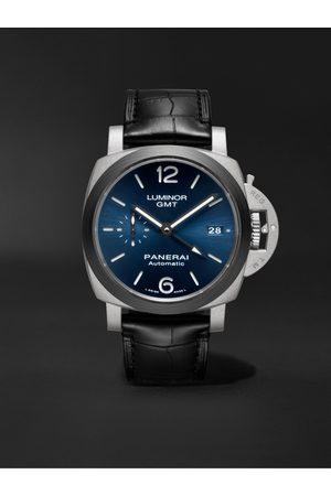 PANERAI Homem Relógios - Luminor GMT Automatic 42mm Titanium and Alligator Watch, Ref. No. PAM01279