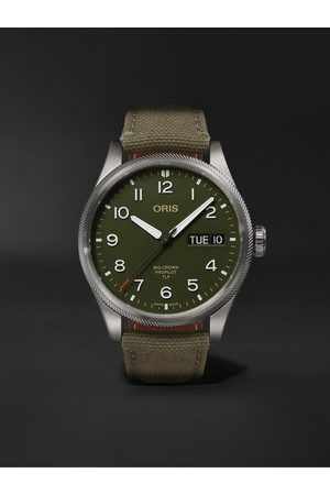Oris Homem Relógios - TLP Big Crown ProPilot Limited Edition Automatic 44mm Stainless Steel and Ventile Watch, Ref. No. 01 752 7760 4287-Set