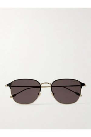 Montblanc D-Frame -Tone and Acetate Sunglasses