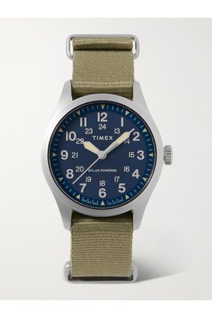 Timex Homem Relógios - Field Post Solar 41mm Stainless Steel and Recycled Webbing Watch