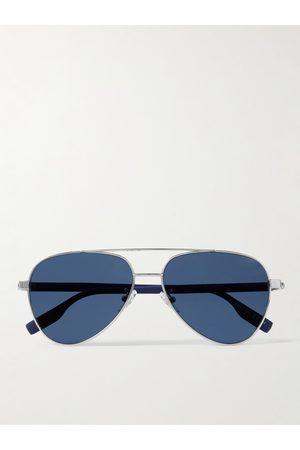 Montblanc Homem Óculos de Sol - Aviator-Style -Tone Sunglasses