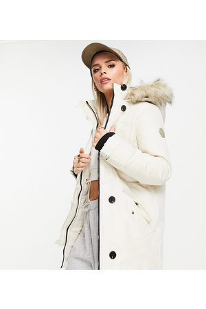VERO MODA Mulher Parkas - Parka with faux fur lined hood in cream-White