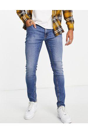 JACK & JONES Homem Tapered - Intelligence Pete carrot fit jeans in light wash blue