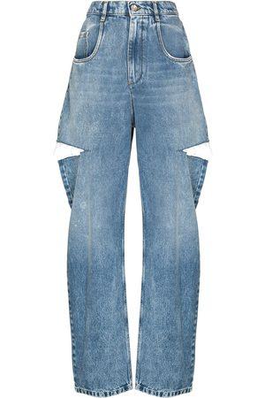 Maison Margiela Mulher Retos - Distressed straight-leg jeans