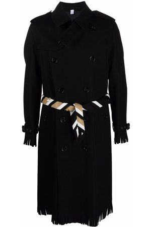 Burberry Scarf-detail trench coat