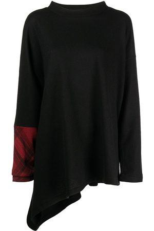 YOHJI YAMAMOTO Check-cuff long-sleeved top