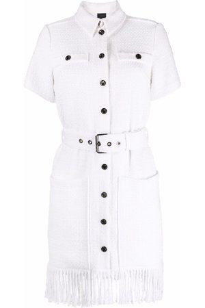 Pinko Belted-waist fringed dress