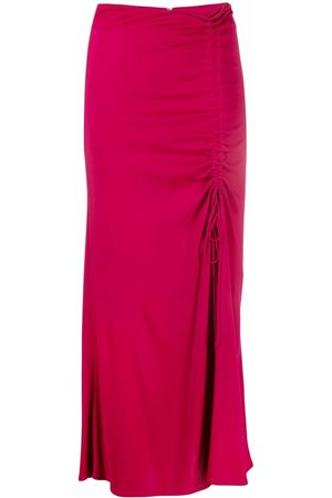 Pinko Mulher Saias - Ruched mid-length skirt