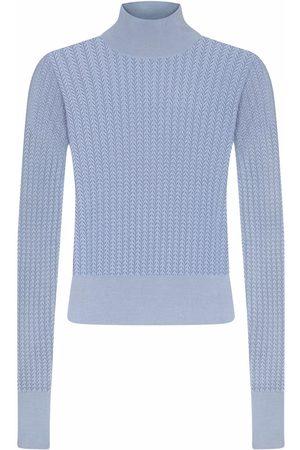 Dolce & Gabbana High-neck lace-stitch jumper
