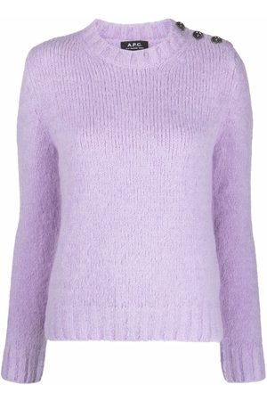 A.P.C. Mulher Camisolas - Side-button knitted jumper