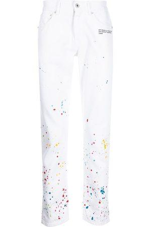 OFF-WHITE X Marais Splatter slim jeans