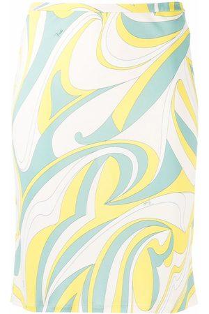 Emilio Pucci Nuages-print straight skirt