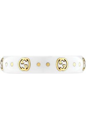 Gucci 18kt yellow gold Interlocking G Icon ring