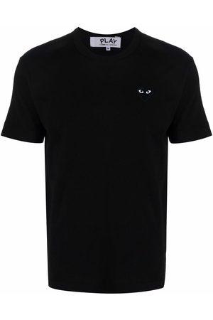 Comme des Garçons Homem T-shirts & Manga Curta - Heart-patch crewneck T-shirt