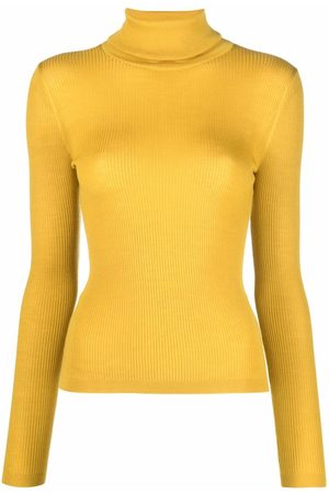 Saint Laurent Ribbed-knit roll-neck top