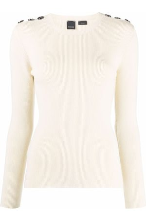 Pinko Decorative button-detail knitted top