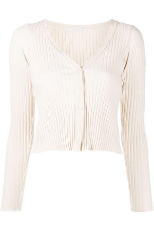 JOHN ELLIOTT Ribbed-knit cropped cardigan