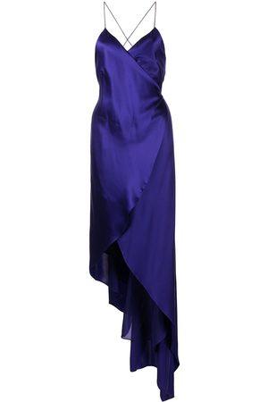 Michelle Mason Silk strappy wrap dress