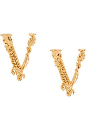 VERSACE Virtus embossed earrings